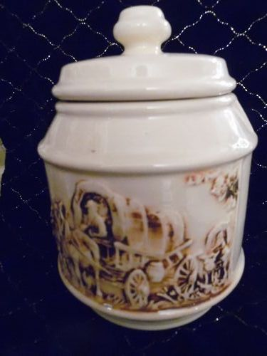 VINTAGE MCCOY FRONTIER COVERED WAGON COOKIE JAR WESTERN