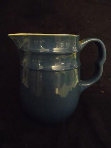 Mid-century Oxford stoneware cobalt blue pitcher