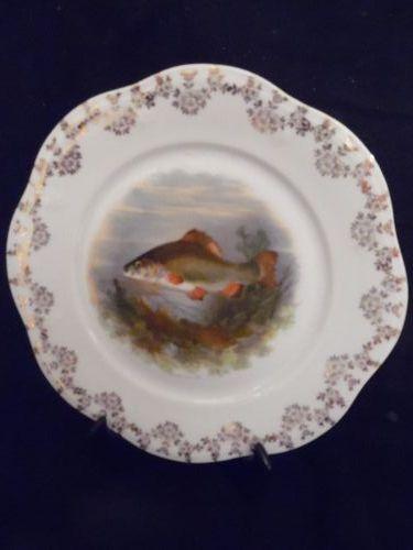 Antique fish decorative plate Limoges? Austria?
