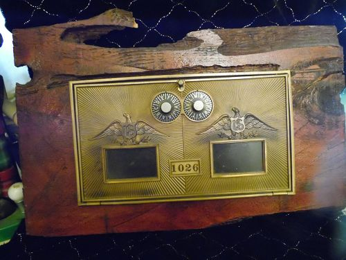 Vintage brass post office box 1026 Double Eagles