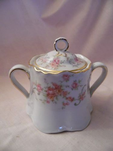 Bavaria Richelieu Hutschenreuther Porcelain China sugar bowl with lid