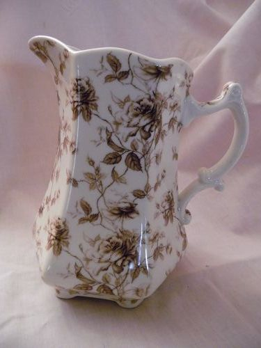 I. Godinger & Co Pitcher Brown Rambling Rose water pitcher.
