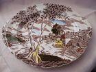 "W.H.Grindley Staffordshire  Sunday Morning 12 1/4"" oval platter"