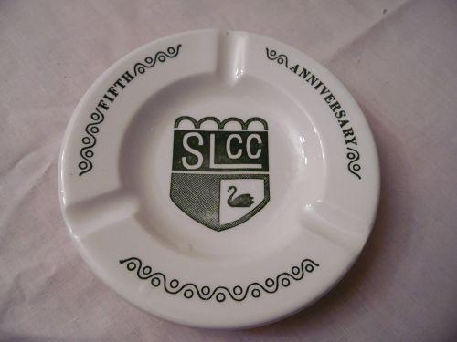 Vintage SLCC Fifth Anniversary ashtray by Royal China