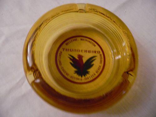 1970s Bellevue,Washington Thunderbird Hotel ashtray-Opened 1969