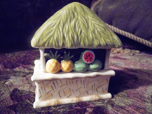 Clay Art Island fruit stand salt and pepper shakers