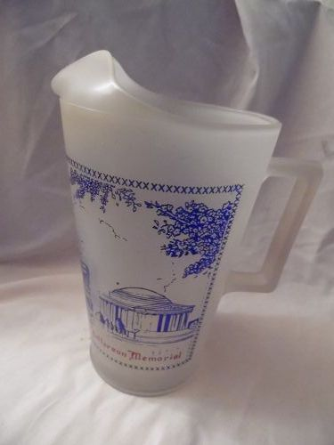 Vintage Washington DC travel sites souvenir glass pitcher