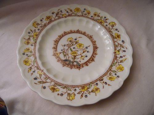 """Vernon Kilns Hibiscus bread plate California pottery 6.5"""""""
