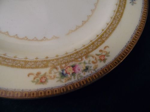 Meito china 7.75 hand painted salad plate Camden pattern Japan