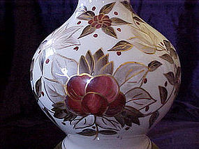 Hand painted floral lamp