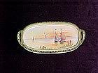 Hand painted Nippon pin tray sailboats and sunset