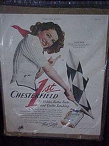 Original Chesterfield cigarette advertisements