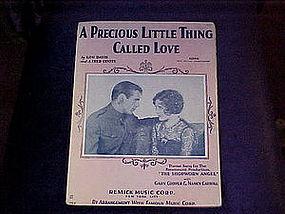 sheet music, A precious little thing called love