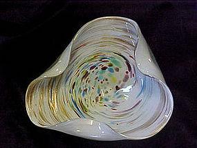 Italian art glass  dish