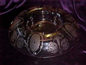 Cambridge, pink centerpiece bowl
