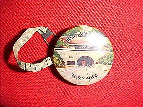 celluloid tape measure of Pennsylvania Turnpike