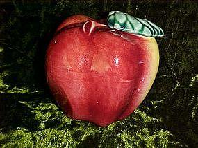 Old pottery apple figurine
