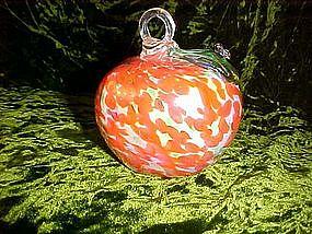 Art glass persimmon ornament
