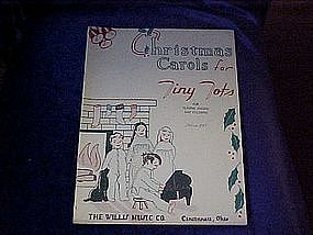 Christmas Carols for Tiny Tots  music & coloring book