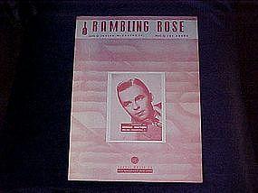 Rambling Rose, sheet music