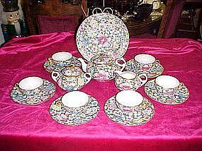 Oriental chintz tea Set - service for six