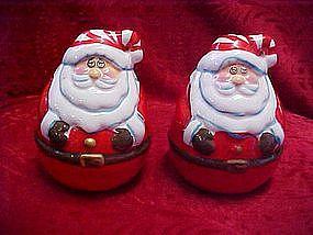 Jumbo Roly Poly Santa salt & pepper shakers