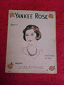 Yankee Rose, sheet music 1926