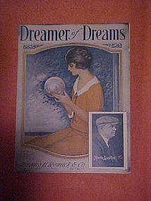 Dreamer of Dreams, deco sheet music 1924