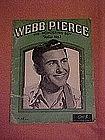 Webb Pierce The wondering boy 1953 song folio #1