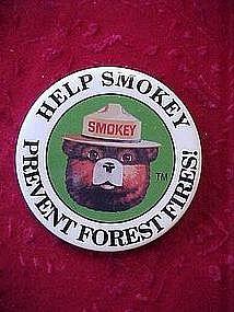 Smoky the Bear pin back button