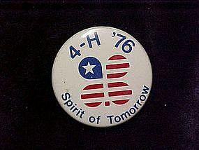4-H 76 spirit of tomorrow, pin back button