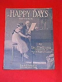 Happy Days Reverie, sheet music 1912