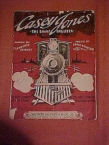 Casey Jones the brave engineeer, railroad song 1909