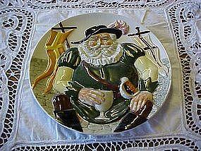 Falstaff, Toby plate by Davenport pottery Co 1985