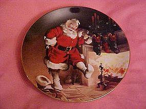 """Santa by the fire"", The Sunblom Santa series"