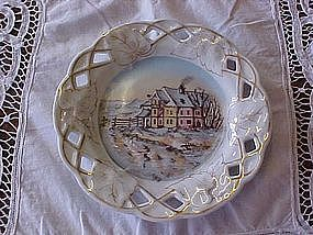 Germany hand painted wall plate, homestead