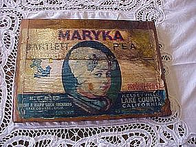 Maryka Bartlettt Pears, fruit crate box end