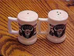 Western style salt & pepper shakers, Colorado souvenir
