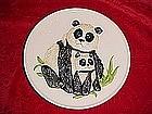 Goebel Panda plate, from Mothers series 1976
