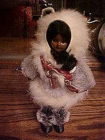 Souvenir eskimo doll, sleepy eyes