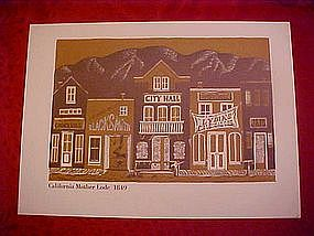 """Print of """"California Mother Lode"""" 1849"""