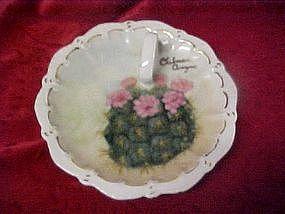 Hand painted souvenir nappy, from Oatman Arizona