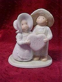 "Homco,Circle of friends figurine, ""I Love Jesus"""