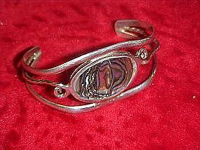 Sterling silver and abalone babys bracelet, Alpaca