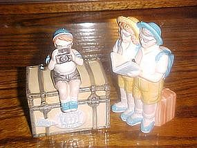 World Tour Tourists, collectible creamer and sugar set