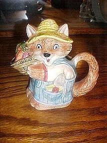 Otagiri Country kitten, or fox, cream pitcher