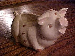 Pig cream pitcher with rose designs