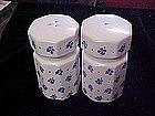Large Range shakers with cobalt calico decoration