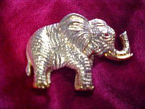 Large gold tone Elephant pin