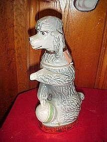 Jim Beam grey poodle decanter 1970